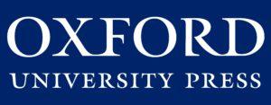 OUP Logo white on blue